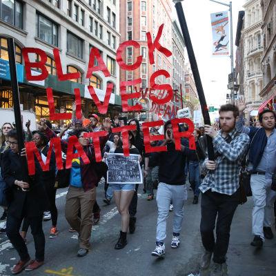 Demonstrationer mot polisbrutalitet i New York.