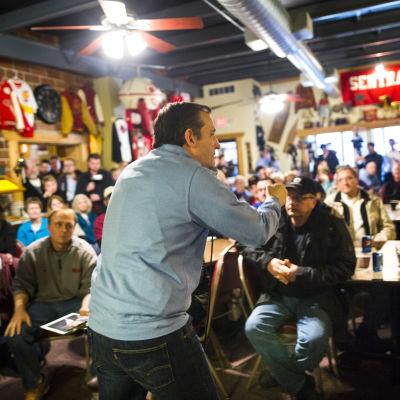 Ted Cruz i Iowa.