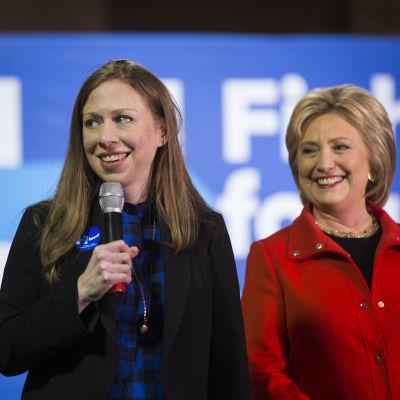 Chelsea Clinton och Hillary Clinton