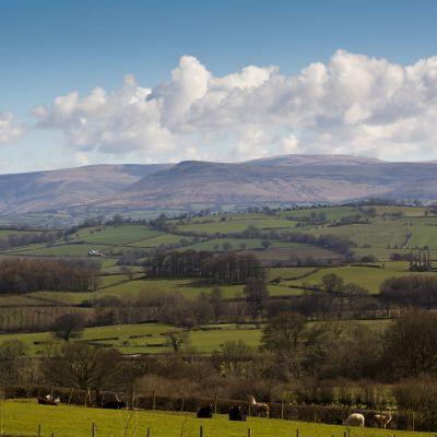 Nationalparken Brecon Beacons i Wales.