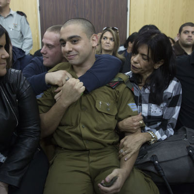 Den israeliske soldaten Elor Azaria som dömdes för dråp på en palestinier i januari 2017