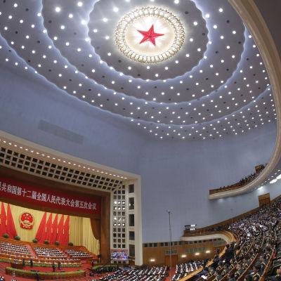 3000 delegater deltar i den årliga Folkkongressen, Kinas högsta lagstiftande organ