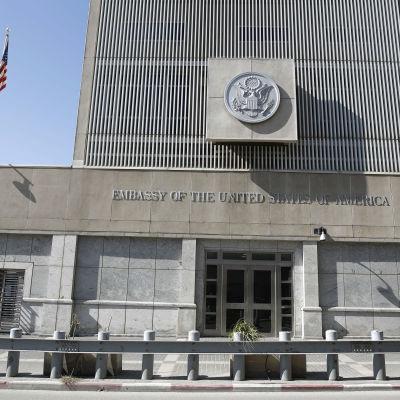 USA:s ambassad i Tel Aviv, Israel.
