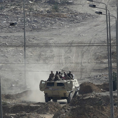 Egyptisk militär på Sinaihalvön.