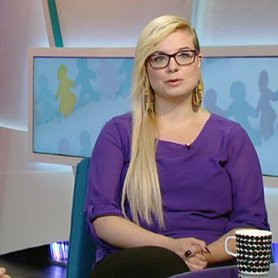 Inka Hetemäki ja Aino Juhola Ylen aamu-tv:ssä keskiviikkona.