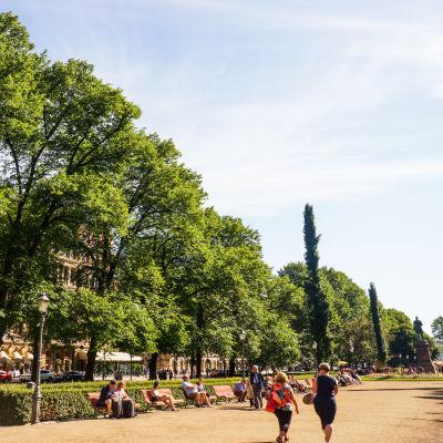 Esplanadsparken under en sommardag.