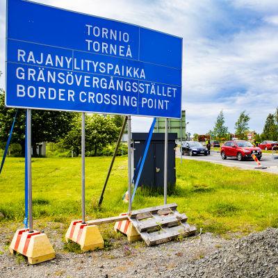 Tornio-Haaparannan rajanylityspaikka.
