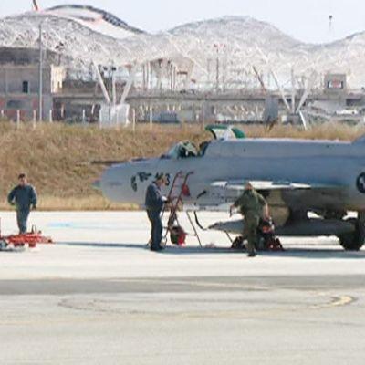Kroatian ilmavoimien MiG-21 -hävittäjä.