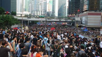 Hongkongs människorättsfront var berömd för att ordna väldiga, vanligen fredliga demonstrationer. Sådana demonstrationer förmodas nu vara ett minne blott.