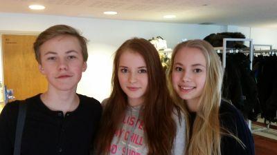 Elever vid St. Olofsskolan