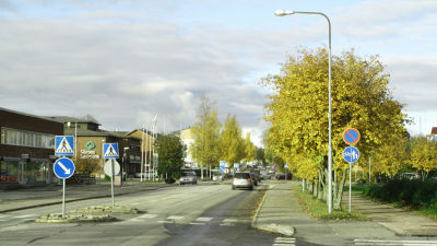 Arkivbild från 2017 från Närpes centrum.