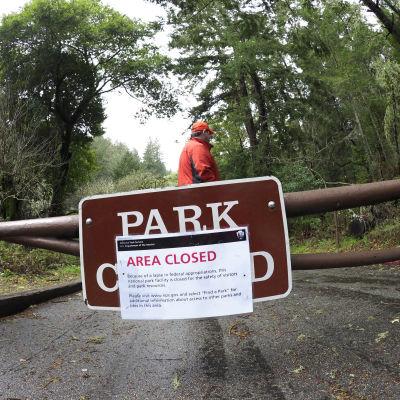 Park nedstängd i USA, budgetgräl.
