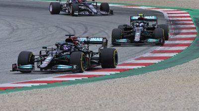 Valtteri Bottas, Lewis Hamilton, Itävallan GP 4.7.2021