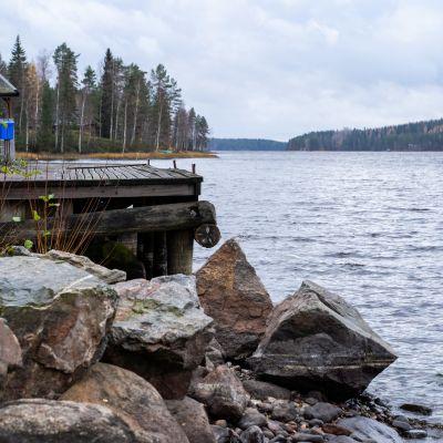Pohjaslahden satama Mänttä-Vilppulassa.