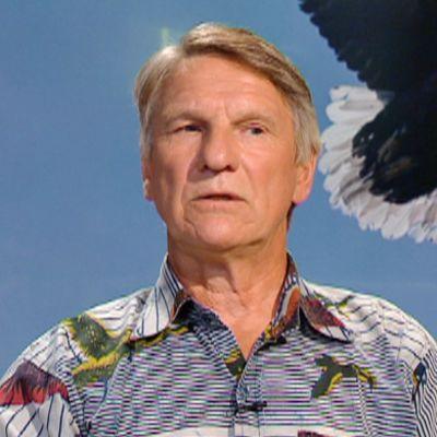 WWF Suomen merikotkatyöryhmän seurantavastaava Heikki Lokki aamu-tv:n vieraana 2. elokuuta.