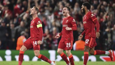 Jordan Henderson sköt segermålet för Liverpool.