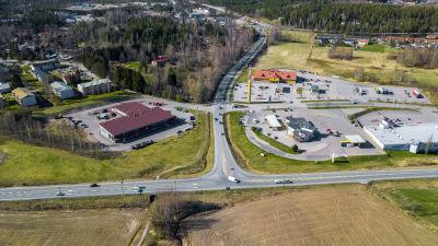 Service stationerna i Karis vid riksväg 25