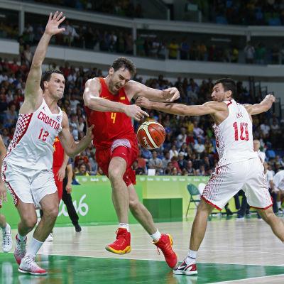 Pau Gasols Spanien förlorade mot Kroatien.