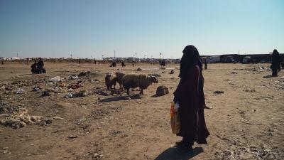 En finsk kvinna i lägret al-Hol.