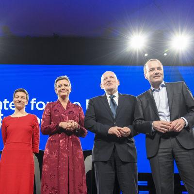 Toppkandidaterna fotograferade inför debatten.