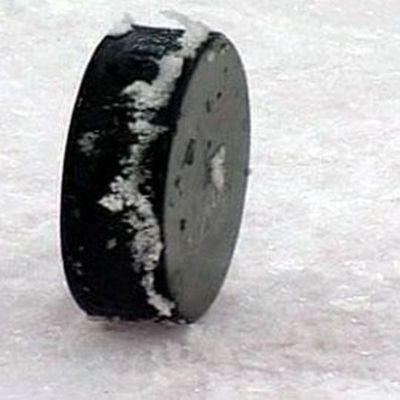 En ishockeypuck.