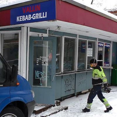 Vallin Kebab-grilli purkukuntoisena
