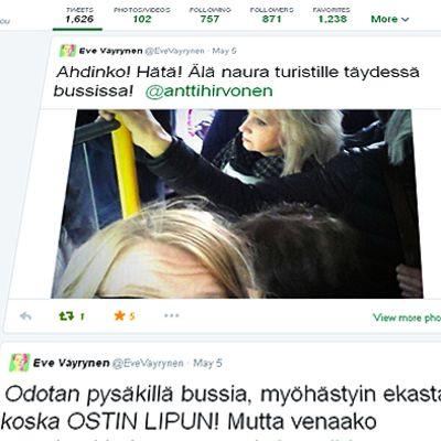 Eve Väyrysen Twitter-virta