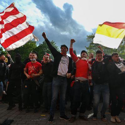 Union Berlinin kannattajia.