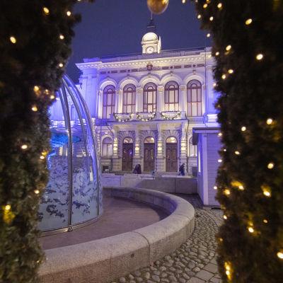 Jouluvaloja Tampereella.