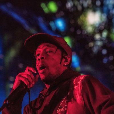 Den amerikanska rapparen Travis Scott på Roskilde 2019.