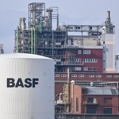 Kemikaliejätten BASF:s fabrik i Ludwigshafen i Tyskland.