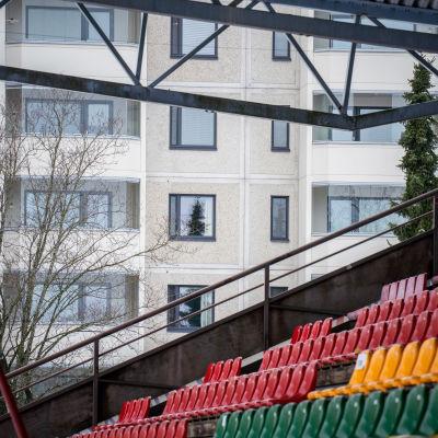 Tammelan stadion Tampereella.