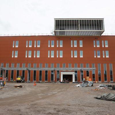 Ratamon sairaalan työmaa-alue.