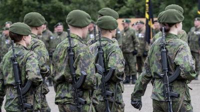 Militärparad.