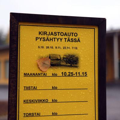 Savonlinnan kirjastoauton pysäkki