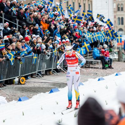 Stina Nilsson tävlar i sprint i Stockholm