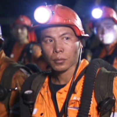 Kaivostyöntekijöitä.