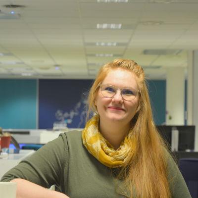 Camilla Björk från arbetsverkstaden Varikko