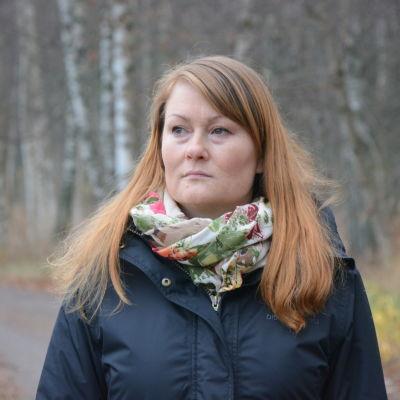 Maria Westerback ute vid Metviken i Vasa.