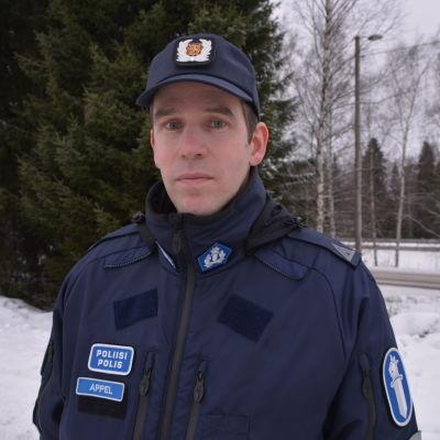 Mikael Appel, kommunikationschef på Österbottens polisinrättning.