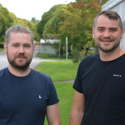 Emil Friman och Johannes Björkqvist.
