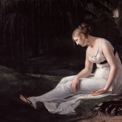 Charpentier, Constance Marie - Melancholy 1801. Yksityiskohta.
