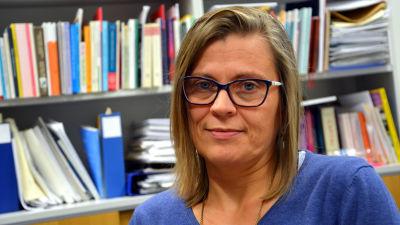 Eva Österbacka på sitt kontor i centrala Åbo.