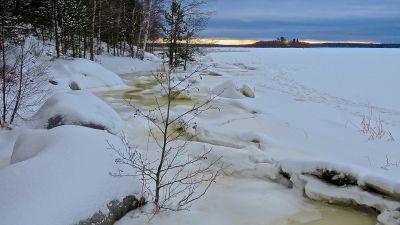 Högt vatten i Vasa i januari 2014