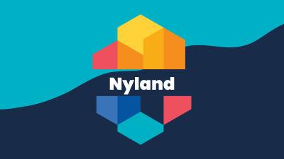 Grafisk bild av Nylands kustlinje med texten Nyland
