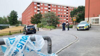Ampumavälikohtauksen tapahtumapaikka Flemingsbergissä, Tukholmassa.