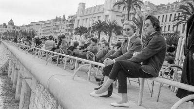 Strandpromenaden i Nice, Promenade des Anglais år 1958.