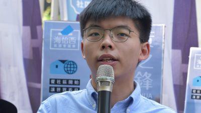 Porträtt på Joshua Wong.