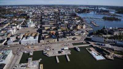 Flygfotografi av Salutorget maj 2020.