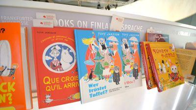 Muminböcker på bokmässan i Frankfurt 2014